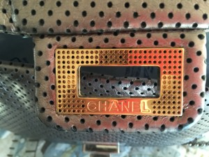 Chanel Louis Vuitton Flap Chain Perforated Shoulder Bag