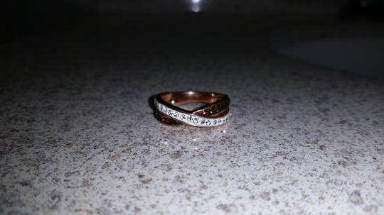 Macy's Rose gold and white faux diamond ring