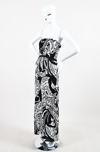 Black Maxi Dress by Gucci White Silk