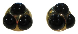 Tiffany & Co. Vintage Tiffany Co Paloma Piasso 18KT Yellow Gold Onyx Earrings