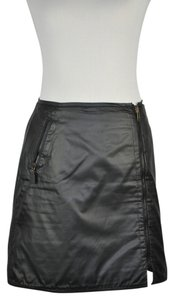 Fendi Reversable Mini Logo Print Mini Skirt Black