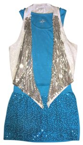 Justice short dress Turquoise Turqouise Mini Skort Sequins on Tradesy