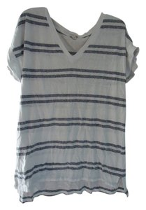 Gap Hi-low Tall T Shirt Gray Stripe