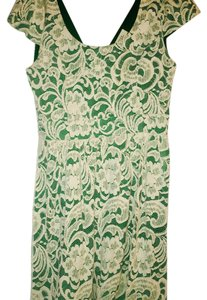 Monteau Los Angeles short dress Green and white on Tradesy
