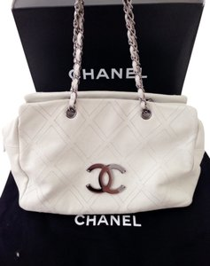 Chanel White Shoulder Bag