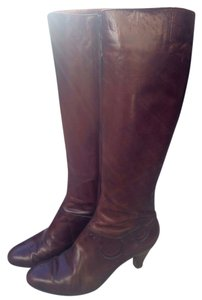 Salvatore Ferragamo Winter Zipper Italian Brown Boots