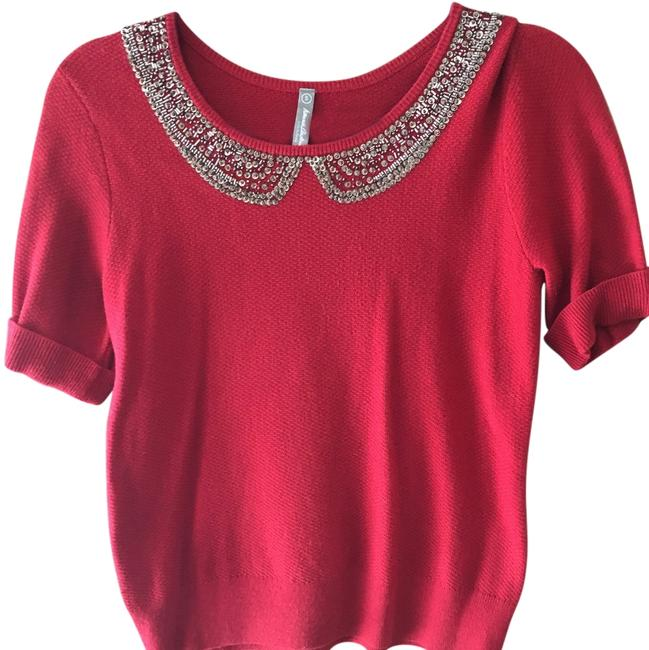 Preload https://img-static.tradesy.com/item/14883415/hanna-andersson-red-short-sleeve-sweaterpullover-size-4-s-0-1-650-650.jpg