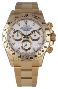 Rolex Rolex Cosmograph Daytona 18K Yellow Gold Watch White Dial 116528