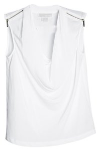 Michael Kors Sheer Zip Top White