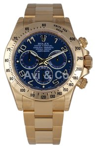Rolex Rolex Cosmograph Daytona 18K Yellow Gold Watch Blue Dial 116528