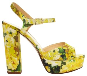 Kate Spade Floral Yellow Sandals