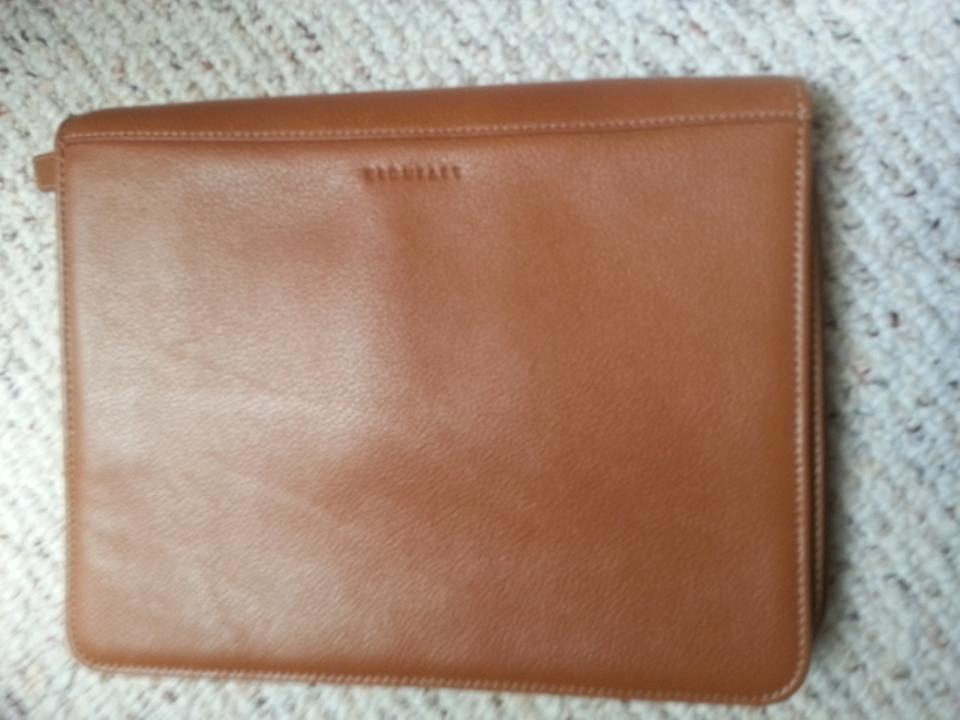 Levenger brown leather bag organizer tech accessory tradesy 1234 reheart Images
