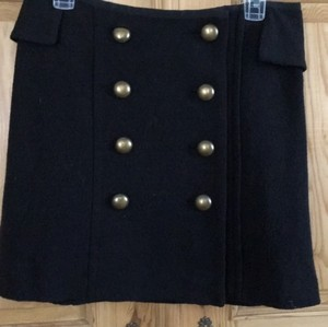 Vivienne Tam Military Gold Hardware Mini Skirt Black
