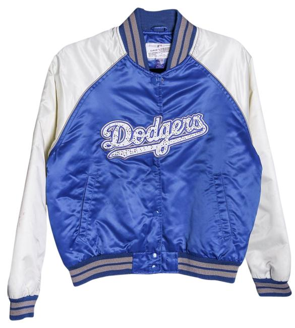 G-111 Dodgers Satin Blue/White Embellished Blue/White Jacket