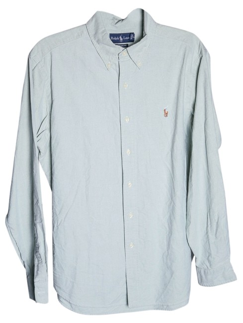 Preload https://item4.tradesy.com/images/polo-ralph-lauren-green-solid-oxford-sport-shirt-l-mens-button-down-top-size-14-l-14883988-0-1.jpg?width=400&height=650
