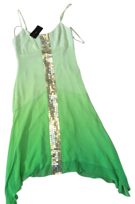 Item - Ombre Green with Gold Details Must Have Bcbg Long Night Out Dress Size 4 (S)