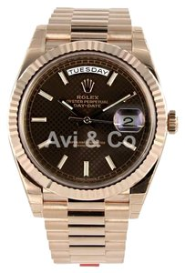 Rolex Rolex Day-Date 40 18K Everose Gold Watch Chocolate Dial 228235