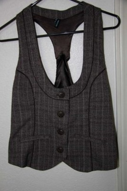 Preload https://item2.tradesy.com/images/maurices-brown-plaid-vest-size-8-m-148846-0-0.jpg?width=400&height=650