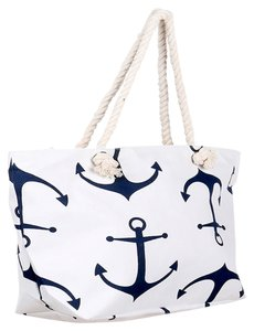 Other Tote in White, Blue