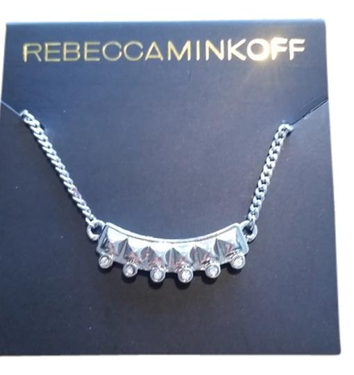 Preload https://img-static.tradesy.com/item/14884753/rebecca-minkoff-silver-and-pave-rhinestones-spike-necklace-0-1-540-540.jpg