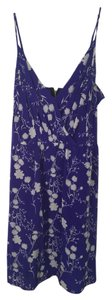 Yumi Kim short dress Purple Floral Silk on Tradesy