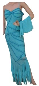 blue Maxi Dress by mansouri Bride Maide Wedding Long Maxi Tory Burch Tiffany And Co
