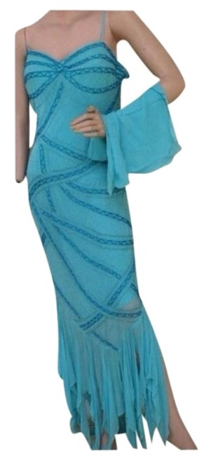 Blue New Long Casual Maxi Dress Size 16 (XL, Plus 0x) Blue New Long Casual Maxi Dress Size 16 (XL, Plus 0x) Image 1