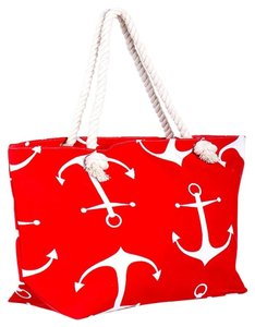 Other Tote in Red , White
