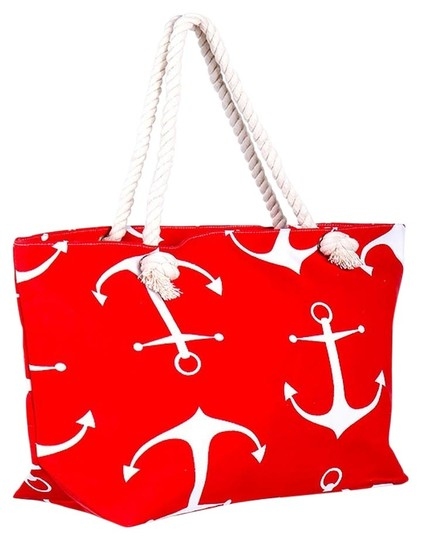 Preload https://img-static.tradesy.com/item/14885242/nautical-and-anchor-weekend-beach-red-white-polyester-cotton-tote-0-1-540-540.jpg