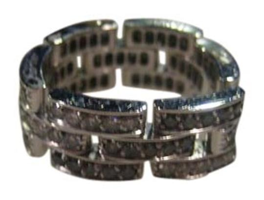 Cartier Cartier Maillon Panthere 18KT White Gold Black White Diamond Flexible Eternity Wedding Band Ring RING SIZE 53