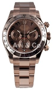 Rolex Rolex Cosmograph Daytona 18K Everose Gold Watch Chocolate Arabic Dial 116505