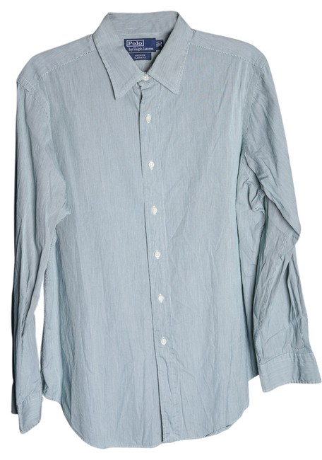 Preload https://item2.tradesy.com/images/polo-ralph-lauren-green-mens-andrew-classic-fit-striped-dress-shirt-button-down-top-size-10-m-14885581-0-1.jpg?width=400&height=650