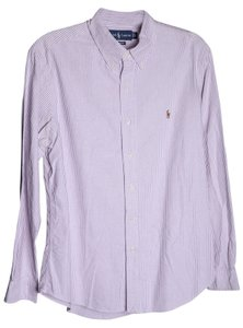 Polo Ralph Lauren Stripe Button Down Shirt Purple