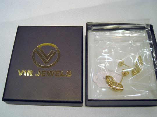VIR Jewels 3-Stone Citrine Earrings (3.45 CT) Yellow Gold Plated .925 Sterling Silver - [ Roxanne Anjou Closet ]
