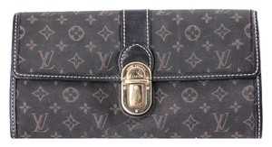 Louis Vuitton * LOUIS VUITTON Monogram Idylle Sarah Wallet Encre