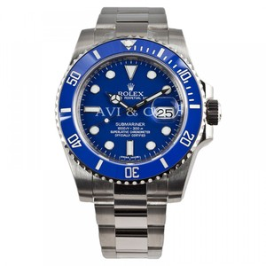 Rolex Rolex Submariner White Gold Watch Blue Ceramic Bezel 116619
