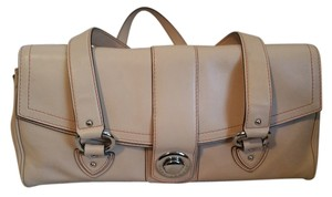 Marc Jacobs Satchel in Tan with a but orange stitching