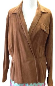 Ralph Lauren Suede Brown Shirt Longsleeve Soft Top Brown Suede