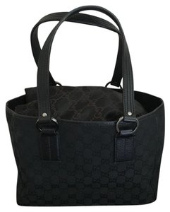 Gucci Tote in Black & Gunmetal
