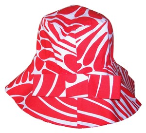 Kate Spade New Kate Spade Red & White Cotton Hat w/Bow