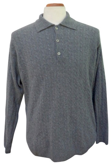 Preload https://item4.tradesy.com/images/gray-euc-heather-cashmere-3-button-polo-sweater-size-l-14886328-0-1.jpg?width=440&height=440