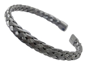 Other Braided 316L Stainless Steel Cuff w free shipping