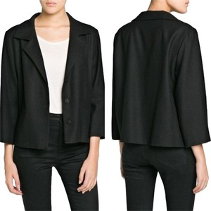 Mango Wool Black Jacket