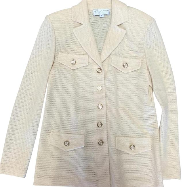 St. John Santana Knit Cream Pastel yellow Blazer