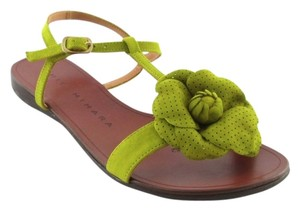 Chie Mihara Flower Summer Anthropologie Green Sandals