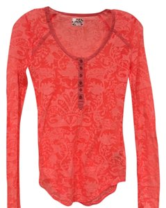 Free People T Shirt Orange