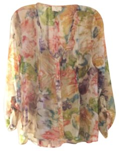 Pins and Needles Sheer See Thru Top Floral