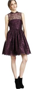 Alice + Olivia Ophelia Metallic Lace Dress