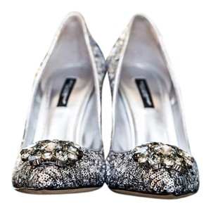 Dolce&Gabbana Sequin Silver Pumps