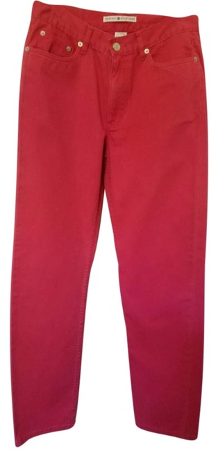 Preload https://item1.tradesy.com/images/tommy-hilfiger-red-lightweight-casual-30-inseam-cotton-boot-cut-pants-size-6-s-28-14888005-0-1.jpg?width=400&height=650
